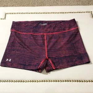 Under Armour Pink & Blue compression shorts